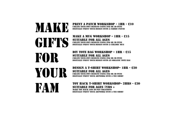 Make Gifts for your Family